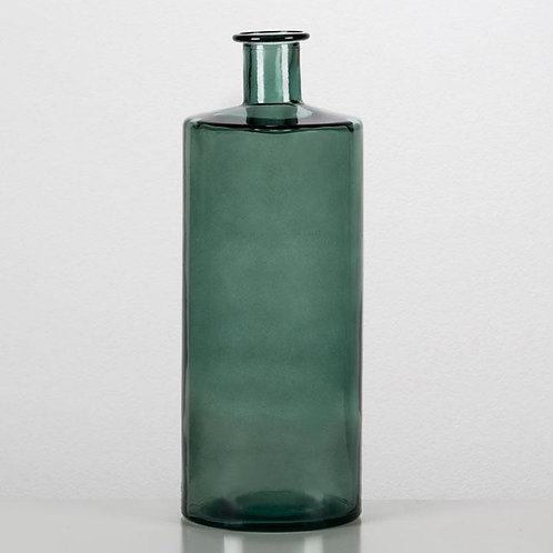 Jena Decorative Bottle 15x15x40 - Green Glass