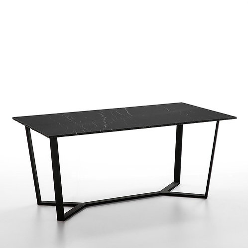 Emma Dining Table - Black Marble/Metal