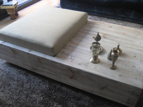 Custom low table with bench seating