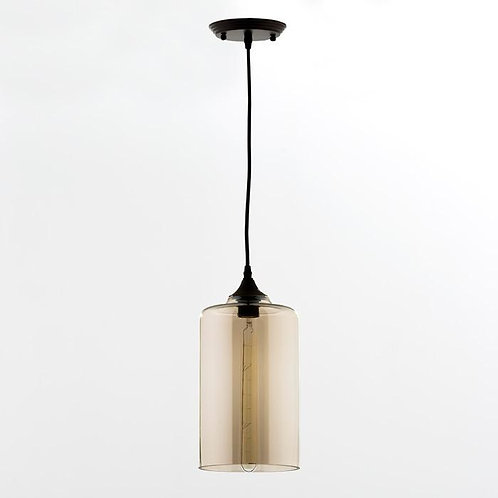 Collette Hanging Lamp - Smoked Glass
