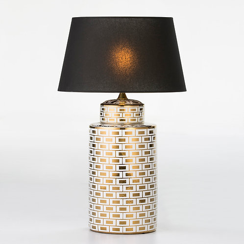 Florence Table Lamp - White/Golden Ceramic
