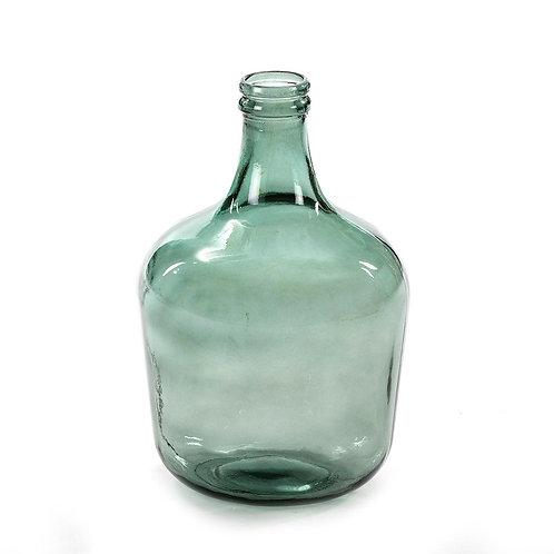 Annette Decorative Bottle 27x27x42 - Green Glass