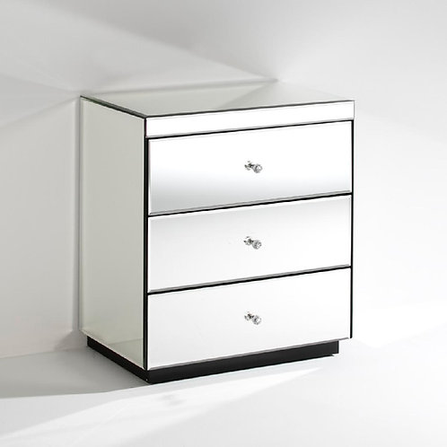Monroe Nightstand - Mirror/Wood