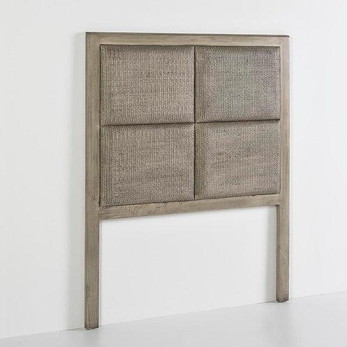 Selena Headboard/Sgl - Grey Veiled Rattan/Wood