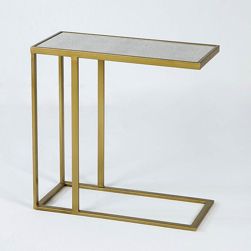Astaire Side Table - Aged Mirror/Golden Metal