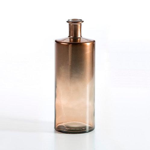 Jena Decorative Bottle 15x15x40 - Copper Glass