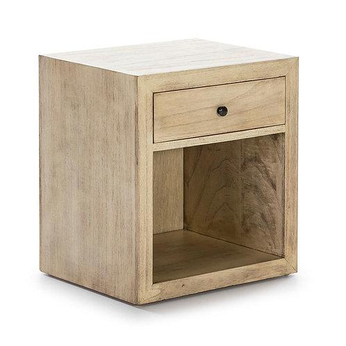 Lidia Nightstand - White Veiled Wood