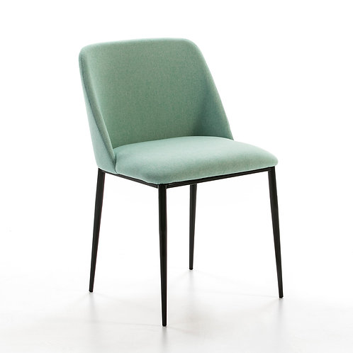 Jane Dining Chair - Lt. Green Fabric/Black Metal