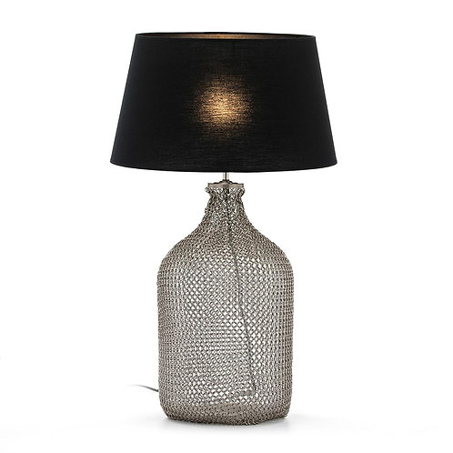 Alexa Table Lamp - Silver Metal/Glass
