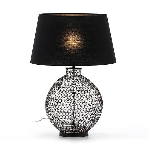 Nadia Table Lamp - Black Metal/Glass