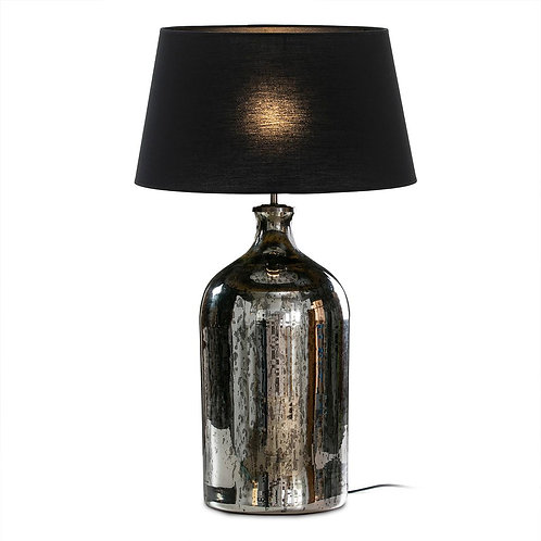 Henley Table Lamp - Antique Silver Glass