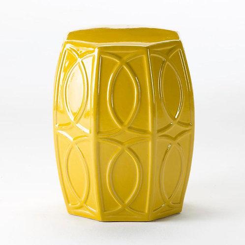 Irene Side Table/Stool - Yellow Ceramic