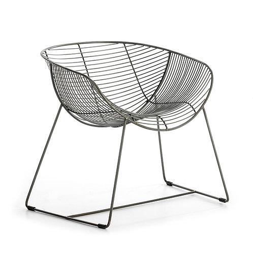 Kristine Dining Chair - Zinc Metal