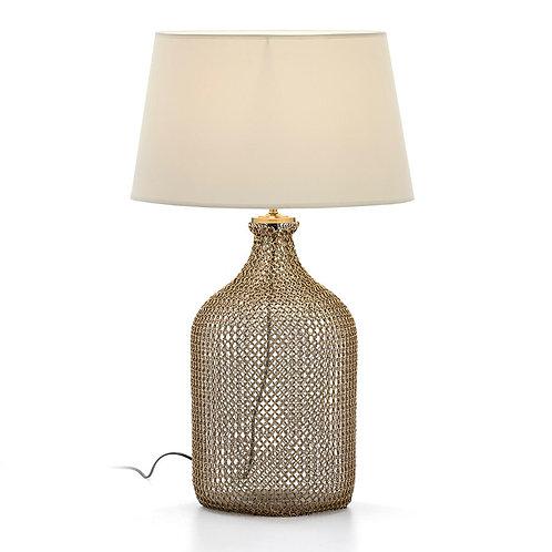 Alexa Table Lamp - Golden Metal/Glass