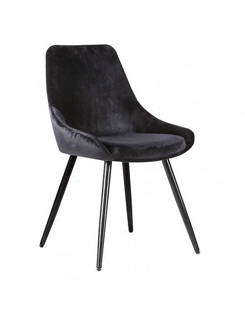 Iris Dining Chair - Black Fabric/Metal