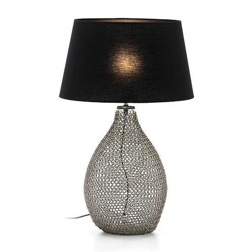 Josephine Table Lamp - Silver Metal/Glass