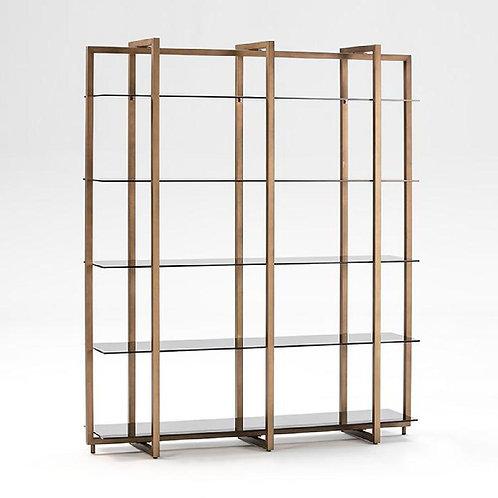 Margaret Bookshelf - Smoked Glass/Bronze Metal