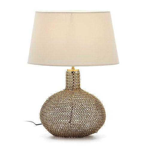 Madeline Table Lamp - Golden Metal/Glass