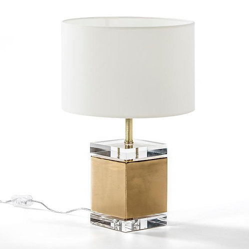 Martina Table Lamp - Transparent Acrylic/Golden Metal