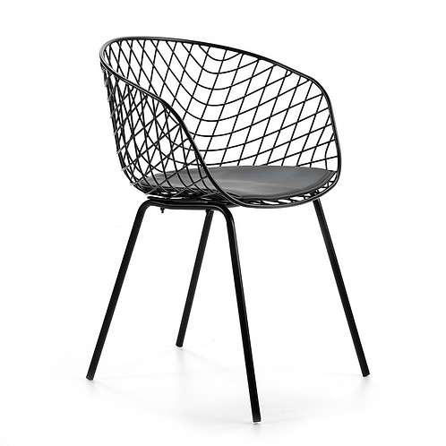 Bea Dining Chair - Black Metal