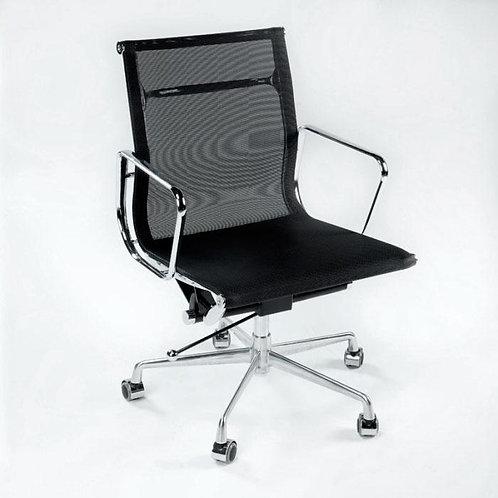 Armand Desk Chair - Black Mesh/Chrome