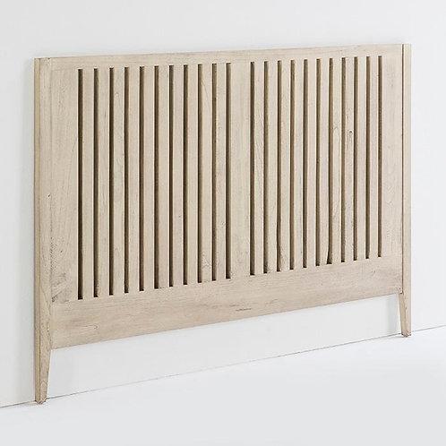 Elaine Headboard/Dbl - Grey Veiled Wood