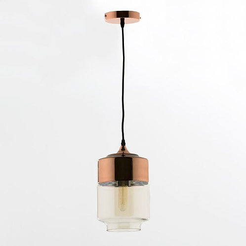 Rosalyn Hanging Lamp - Golden Metal/Glass