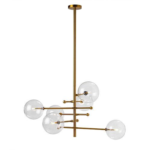Ursula Hanging Lamp - Golden Metal/Glass