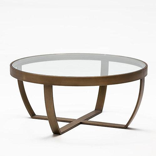 Harrison Coffee Table - Glass/Bronze Metal
