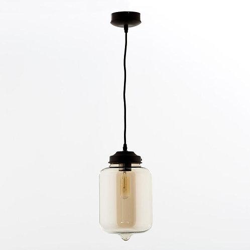 Alexandra Hanging Lamp - Smoked Glass