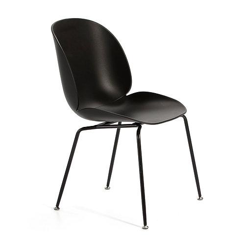 Lorraine Dining Chair - Black Polyurethane/Metal