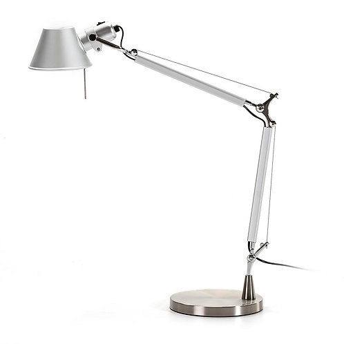 Paige Table Lamp - Silver Aluminum