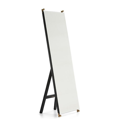 Carmen Mirror - Black MDF/Golden Metal