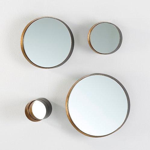Lulu Mirrors/Var Sizes (Set of 4 ) - Golden Metal
