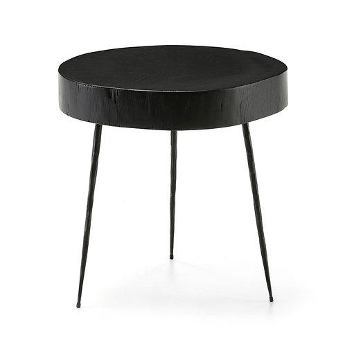 Caroline Side Table - Black Wood/Metal