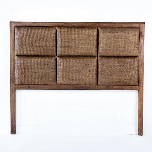 Selena Headboard/Dbl - Natural Veiled Rattan/Wood