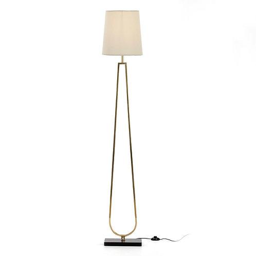 Fiona Floor Lamp - Golden Metal/Black Granite