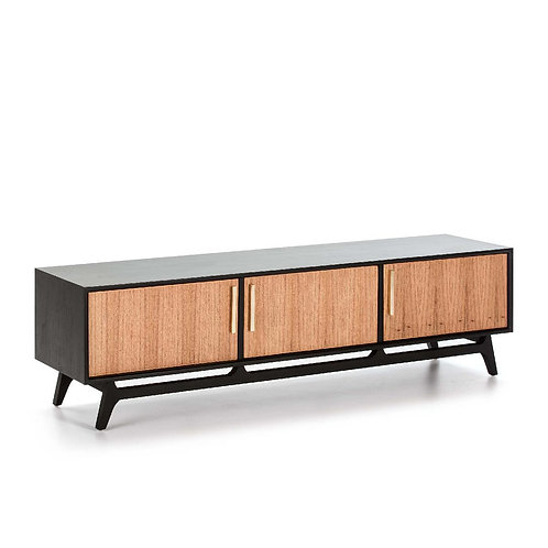 Juana TV Unit - Black/Natural Wood