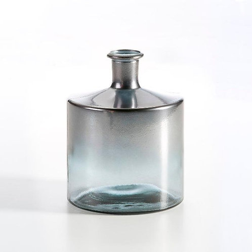 Jena Decorative Bottle 21x21x26 - Silver Glass