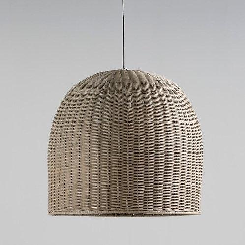 Laura Hanging Lamp - Grey Wicker