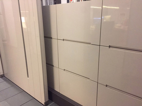 Custom Office Storage with Sliding Room/Wall Partitions