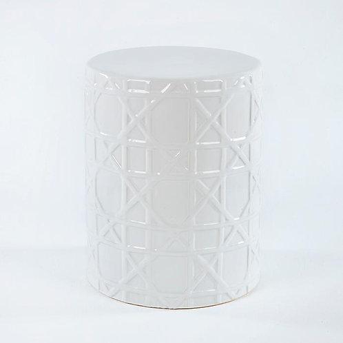 Lidiana Side Table/Stool - White Ceramic