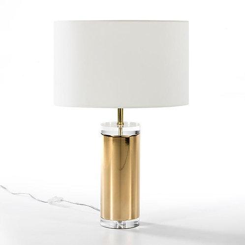 Mathilde Lámpara Sobremesa 12x44 - Acrílico Transparente/Metal Dorado