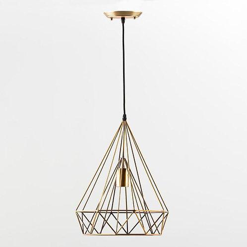 Angelica Hanging Lamp - Golden Metal