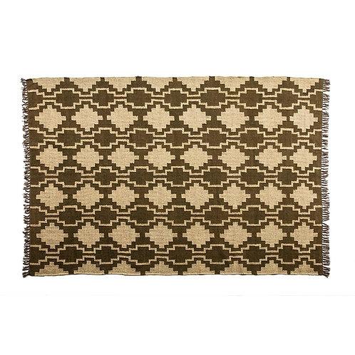 Bianca Rug - Natural/Brown Jute & Wool