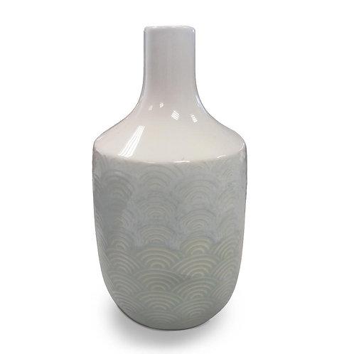 Gisela Vase - Green/White Ceramic