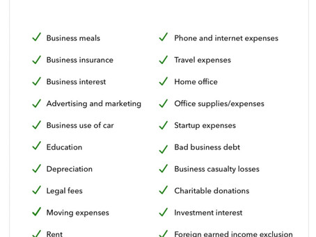 2021 complete list of small business tax deductions