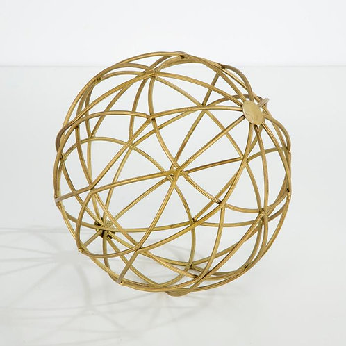 Emory Globe 20x20x20 - Golden Metal