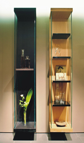 Custom shelving to display taller accessories