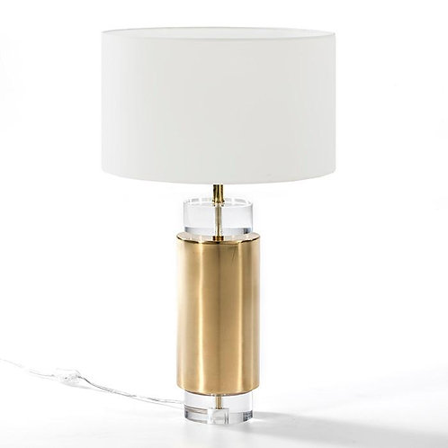 Mathilde Table Lamp 14x53 - Transparent Acrylic/Golden Metal